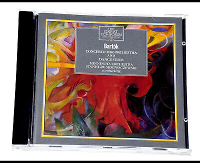 THE GREAT COMPOSERS BARTOK CONCERTO FOR ORCHESTRA AND DANCE SUITE Rare CD Album • 4.29£
