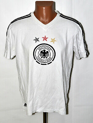 Germany National Team 2012/2013 Cotton Tee Football Shirt Adidas Size L Adult • 13.99£