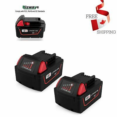 $ CDN109.99 • Buy 2 Pack 18V 5.0Ah Replacement M18 Battery For Milwaukee 18 Volt