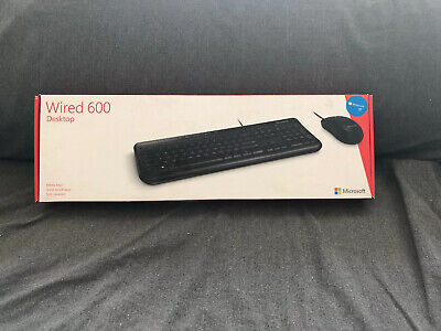 AU8 • Buy Ex Demo Microsoft Wired 600 Desktop USB Keyboard And Mouse Set Combo APB-00018