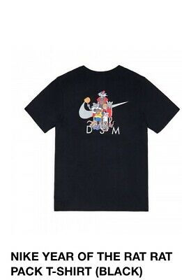 AU129.78 • Buy Nike Dover Street Market Year Of The Rat Pack Tee Black Large New In🤚🏼🛳 Fast