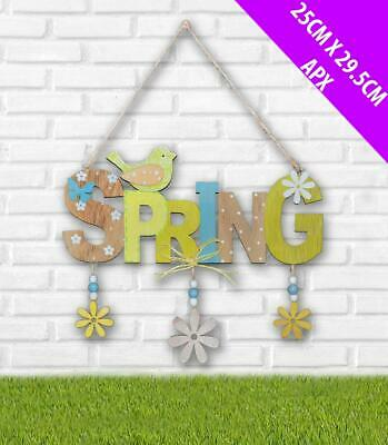 Spring Wooden Vintage Sign/Pretty Easter Plaque Home And Garden Decoration • 6.99£