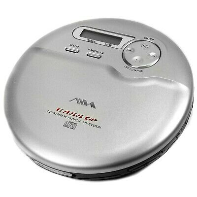 Portable CD Player In Silver With Headphones & Box Aiwa XP-EV500N • 29.99£