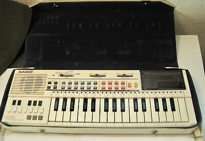 $85 • Buy Vtg 1980s Casio PT-80 Electronic Piano Keyboard W/ Casio ROM Pack FREE Shipping