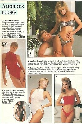 $9.99 • Buy Lot Of 80's Vintage Catalog Lingerie Panties Stockings Photo Pages Ads Clippings