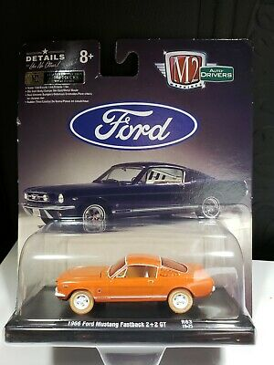 $ CDN37.99 • Buy 2019 M2 Auto-drivers Chase Limited 750  Orange 1966 Ford Mustang Fastback 2+2 Gt