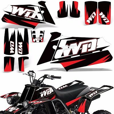 AU132.07 • Buy Decal Graphic Kit Yamaha Banshee 350 ATV Quad Decal Wrap Parts Deco 87-05 WD RED