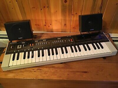 $149.99 • Buy Vintage 1983 Casio Casiotone MT-800 Keyboard W/ Speakers, ROM-PACK, And Case