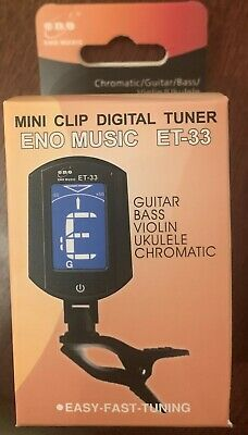 $ CDN10 • Buy ENO ET-33 LCD Clip-on Electronic Digital Guitar Tuner For Guitar Bass Violin