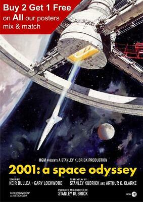 £3.99 • Buy 2001 A Space Odyssey 1968 Movie Poster A5 A4 A3 A2 A1