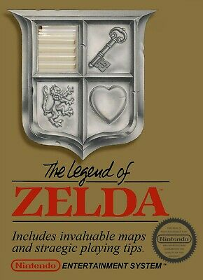$22.46 • Buy THE LEGEND OF ZELDA Nintendo Vintage Video Game Box Art Cover Tapestry Banner