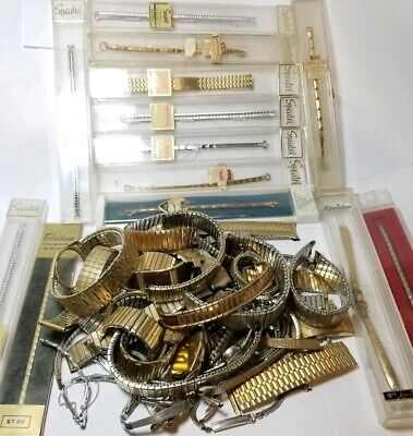 $ CDN13.13 • Buy Vintage Gold Filled & Plate Watch Band Jewelry Lot Over 800 Grams Scrap Useable
