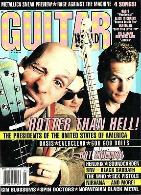 AU13.23 • Buy Guitar World Magazine May 1996 - The Presidents Of The USA, Goo Goo Dolls, Oasis