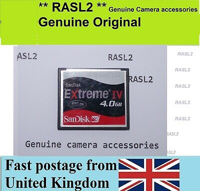4GB SanDisk Extreme IV CF Compact Flash Memory Card Digital Camera Canon Nikon • 24.95£