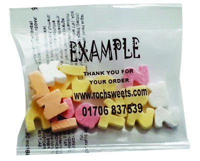 £179.74 • Buy ABC Chalky Candy Letters Sweet Packs Business Personalised Promo Gift 20g Halal