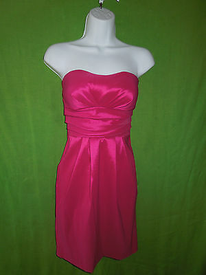 $ CDN35.41 • Buy Ariella Dress Size S Strapless Knee Length Hot Pink Polyester Spandex