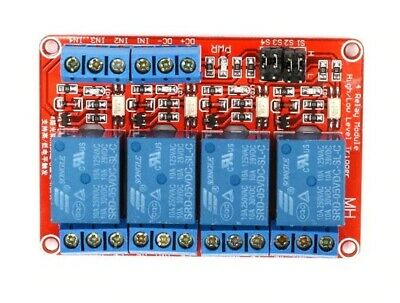 AU21.65 • Buy 5V 4 Channel Relay Module Board With Optocoupler High And Low Level Trigger