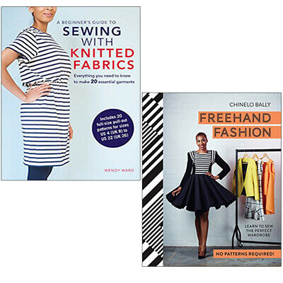 £27.99 • Buy Beginner's Guide To Sewing With Knitted,Freehand Fashion 2 Books Collection Set