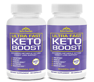 $34.77 • Buy 2 X Ultra Fast Keto Boost Weight Loss Diet Pills BHB Capsules (60 Days Supply)