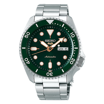 $ CDN308.84 • Buy Seiko Five SRPD63 Automatic Watch 100 Meter Green Dial Stainless Band USA Model