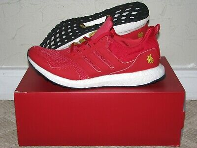 $ CDN375.11 • Buy Adidas Ultra Boost Eddie Huang CNY Scarlet Red Gold Mens Size 9.5 DS NEW! F36426