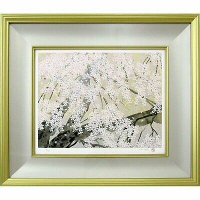 $ CDN4639.77 • Buy Chinami Nakajima Flower Cherry Blossoms Silk Screen Framed 2004 Limited 63/200