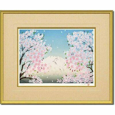 $ CDN6088.17 • Buy Chinami Nakajima  Sprint Woodcut Season Woodblock Print Framed Limited JP 34/200