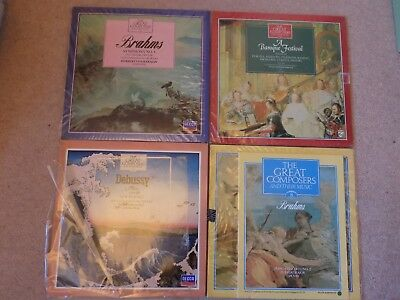 The Great Composers Vinyl Records LP's & Books Brahms X2 Baroque Debussy  • 3.07£