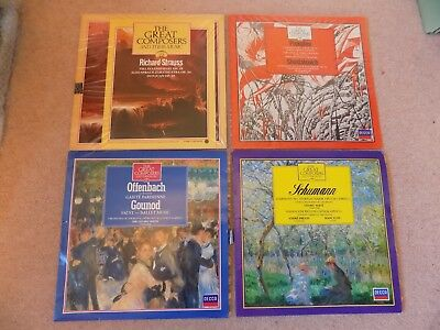 Great Composers Vinyl Records LP's & Books Strauss Prokofiev Offenbach Schuman  • 3.07£