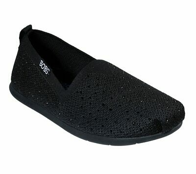 NEW SKECHERS Women Slipper Slip On Alpargata PLUSH LITE - INSTANT SHINE Black • 27.99£