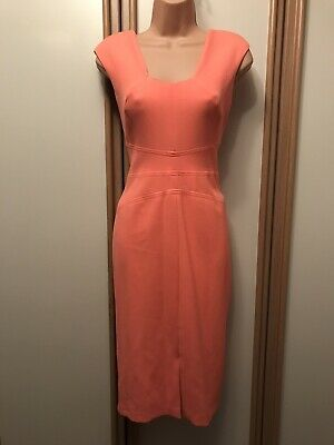 £10 • Buy ❤️ River Island Bright Coral Stretch Fitted Bodycon Dress Size 10 BNWT B1 £50