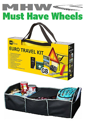 AA Car Euro Travel Kit For Driving In Europe & Boot Tidy With Cooler Section • 26.99£
