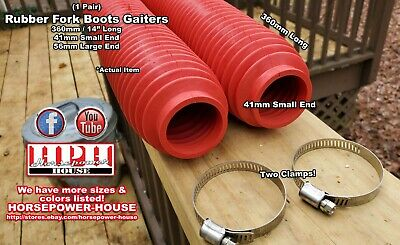 AU65.82 • Buy 43mm Red Fork Boots Gaiters 80's 90's Yamaha IT200 IT250 IT490 TT600 TTR250 500