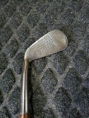 $99.99 • Buy Hickory Shaft Golf Club Vickers Winged Back Mid Iron No 26 Punch Dot Face