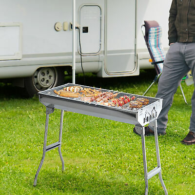 $ CDN94.99 • Buy Outsunny 29  Charcoal BBQ Grill Portable Stainless Steel