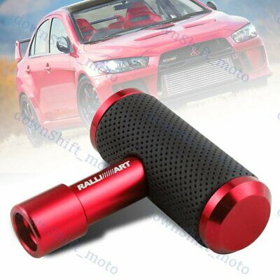 $15.88 • Buy RALLIART Leather Car Shift Knob Aircraft Joystick Transmission Racing Gear Red