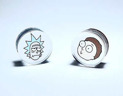 Rick And Morty Ear Plug / Stretcher / Tunnel / Gauge - High Quality Acrylic  • 11£