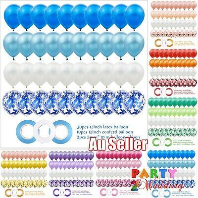 AU2.95 • Buy 43Pcs Ins Confetti Latex Balloons Set Balloon Birthday Wedding Party Decoration