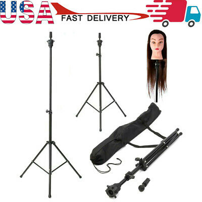 $24.55 • Buy Adjustable Wig Head Tripod Stand Mannequin Tripod Hairdressing Training HolderUS