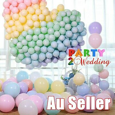 AU2.95 • Buy 100x Macaron 10  Large Latex Balloons Party Wedding Birthday Decor Helium AU