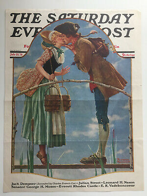 $ CDN26.25 • Buy 1931 Saturday Evening Post COVER ONLY Norman Rockwell  The Milkmaid
