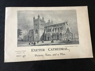 Exeter Cathedral - Guide 1937 • 4£