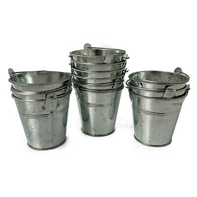 Galvanised Zinc Metal Garden Flower Herb Seed Pot Planter Tub Vase Bucket Sets • 11.99£