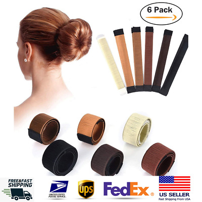 $8.88 • Buy 6X Magic Hair Bun Maker Donut DIY French Twist Women Hair Accessories