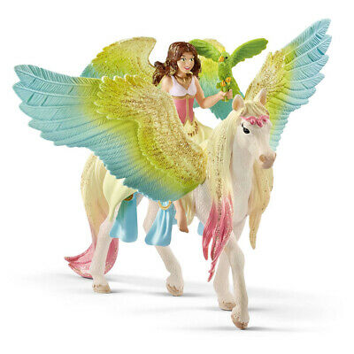 SCHLEICH Bayala Fairy Surah With Glitter Pegasus Toy Figure • 20.53£