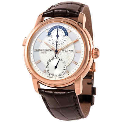$1941.45 • Buy Frederique Constant Horological Smartwatch World Time Automatic White Dial Watch