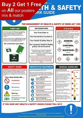 £2.99 • Buy HSE Health And Safety At Work Poster A4 A3 A2 A1