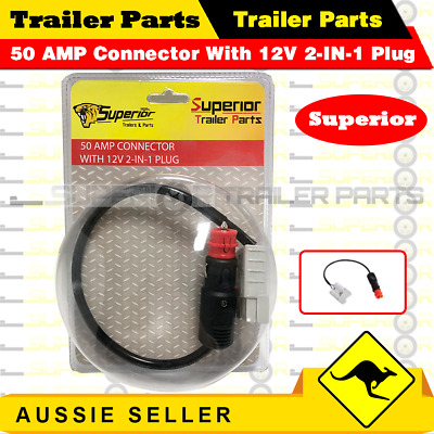 AU17.15 • Buy 12v 50a Anderson Plug To Male Cigarette Socket Anderson Extension Lead 0.3 Meter