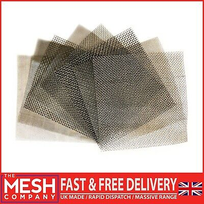 £2.75 • Buy STAINLESS STEEL WOVEN WIRE FILTER MESH HEAVY, FINE & COARSE 150 & 300mm Square