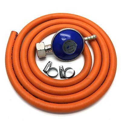 Butane Gas Regulator With 2m Hose And Clips Fits Calor Gas 4.5kg Cylinders ONLY  • 10.99£